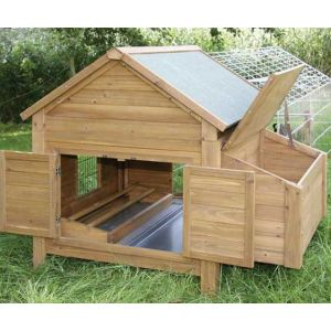 Small Animal Hutch with Egg Nest